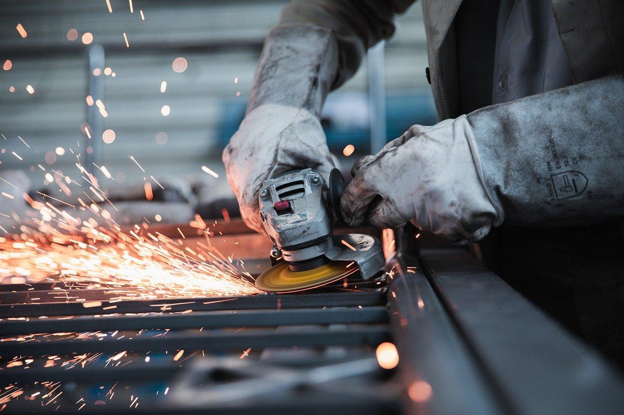 worker, grinder, factory